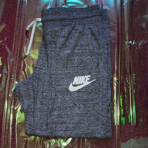 Grey Nike sweat capris
